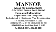 Mannoe Income Tax & Multi-Services Electronic Filing & Rapid Refund